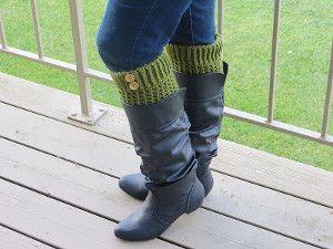 Two Hour Boot Cuffs   AllFreeCrochet.com