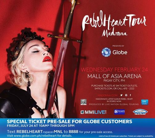 Madonna Live in Manila 2016 Concert, Ticket Price Php 58k | Today Bliss