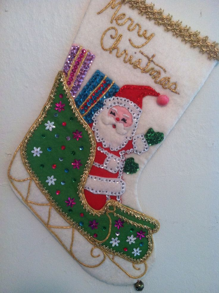 Vintage Bucilla Christmas Stocking                                                                                                                                                                                 More