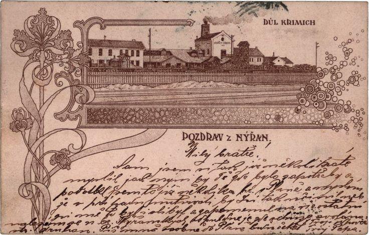 1900 Nýřany, Důl Krimich. zdroj: nyrany.cz