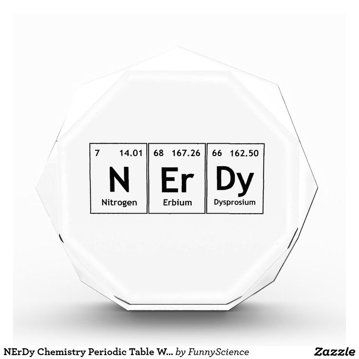 nerdy chemistry periodic table words elements nerd acrylic award