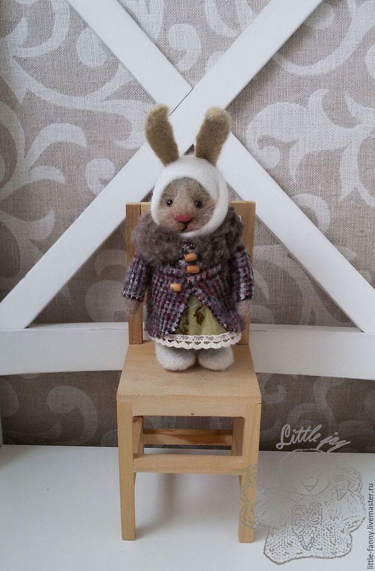 Купить Зоенька - комбинированный, зайка, заинька, кролик, кролики, игрушка, зоя, шерсть меринос