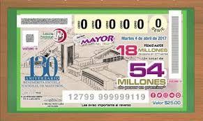 Resultado de imagen para boleto de loteria 2017