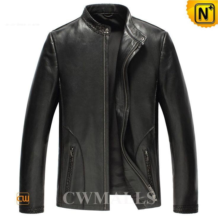 Mens Embossed Leather Biker Jackets CW850401 Mens designer leather jackets in black or brown, finished with fine sheepskin leather, features in crocodile embossed patterns on the shoulder, sleeve cuff and pockets, full YKK zipper front, this leather jackets has the style and quality you want. www.cwmalls.com PayPal Available (Price: $577.89) Email:sales@cwmalls.com
