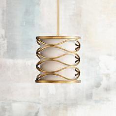 "Austen 8"" Wide Plated Gold Mini Pendant Light"