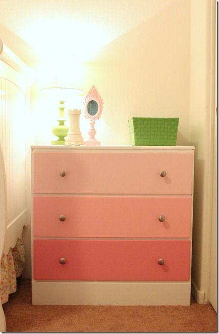 Ombre Dresser: Colors Combos, Idea, Color Schemes, Color Combos, Colors Drawers, Boys Colors
