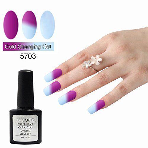 Eleacc Vernis à Ongle Couleur Change avec Température Caméléon UV GEL Nail Art Semi Permanente 7.3 ml: Usage Étape 1: -Façonnez vos ongles…
