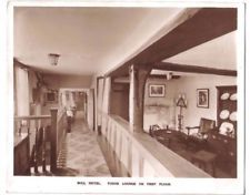 Burford BULL HOTEL in the cotswolds TUDOR LOUNGE Oxford OLD PHOTO POSTCARD