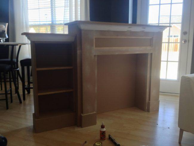 kaminumrandung selber bauen dekokamin anleitung konstruktion faecher egale holzplatten deko. Black Bedroom Furniture Sets. Home Design Ideas