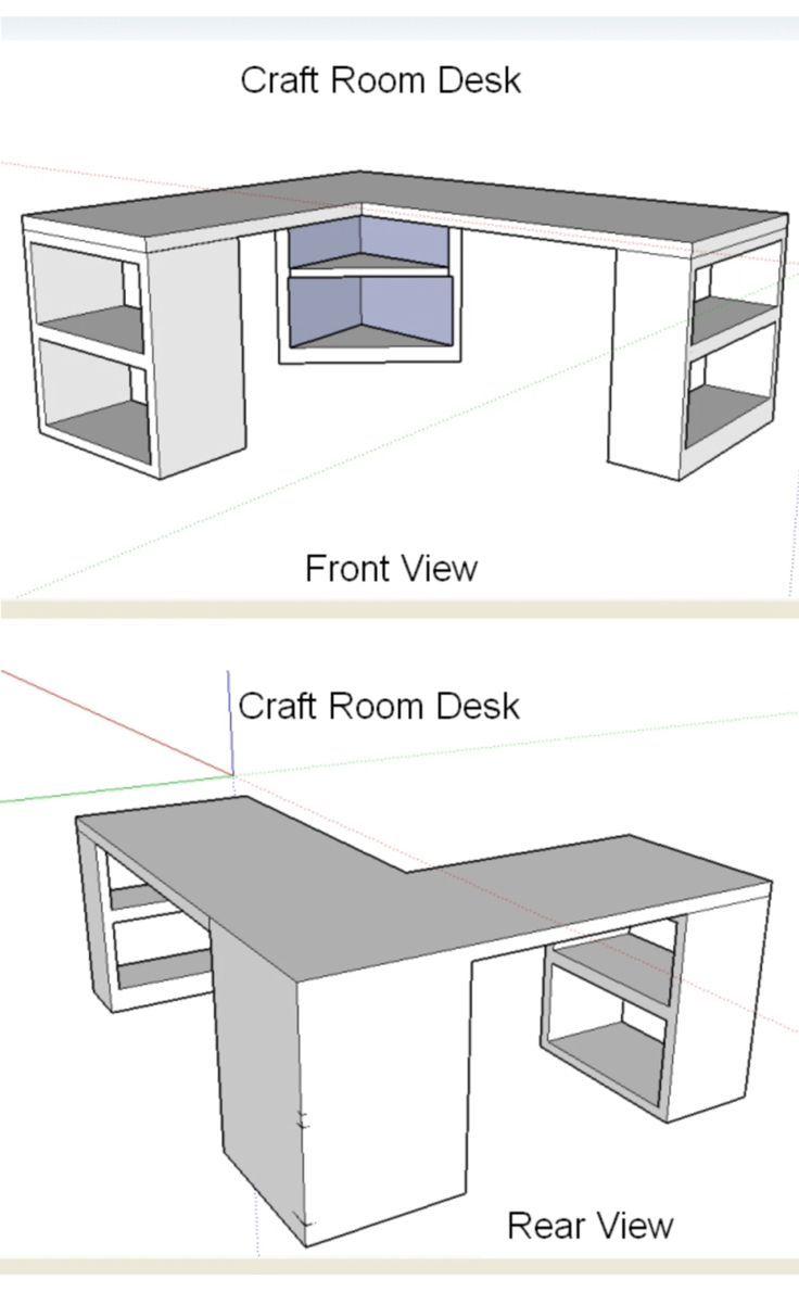 Craft Room Desk Design