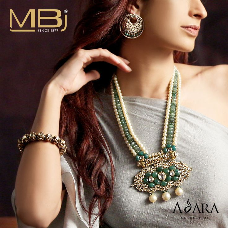 Presenting an exclusive collection of Polki Neklace, Earrings and Bracelet from Adara collection of MBj