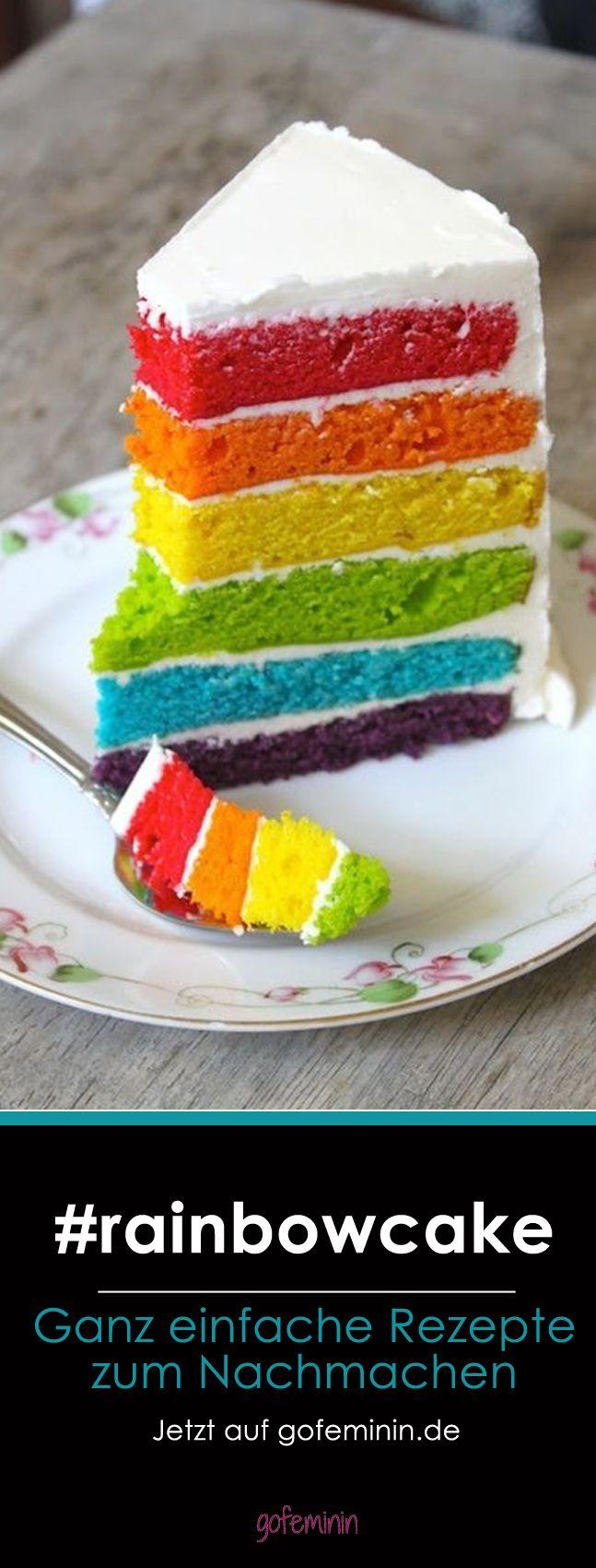 Mjam, mjam Regenbogenkuchen!  Jetzt auf gofeminin.de (Rainbow Cake)