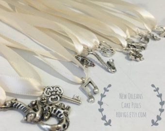 New Orleans Cake Pulls 12 charms Set 1 ribbons YOU by roxygs