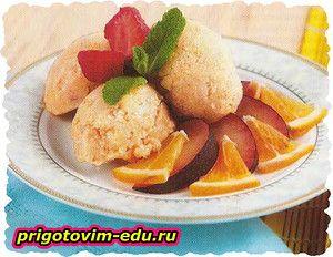 Фруктовое мороженое (банан, яблоко, апельсин)