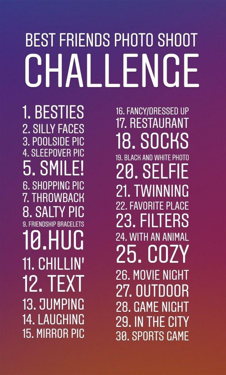 Best Friends Photo Challenge In 2020 Friends Quotes Best