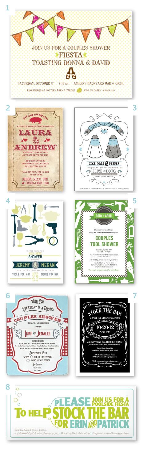 ideas and themes for a couples shower — #invitations #theme #inspiration