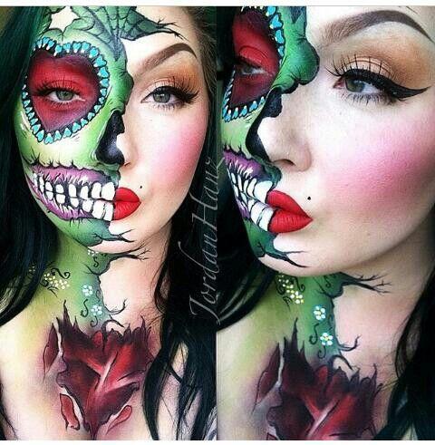 Zombie makeup. Sugarpill.