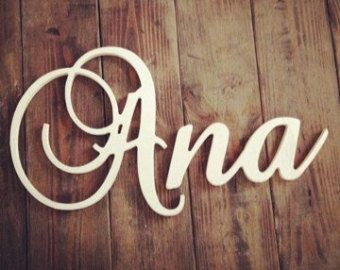 Unfinished Wood letters Name ready to DIY by kygracedesigns