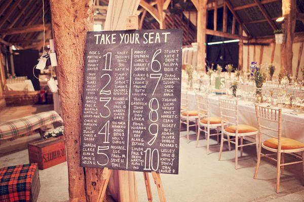 cute seating chart