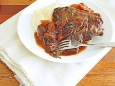 Slow Cooker Beef Cheeks in Red Wine Recipe