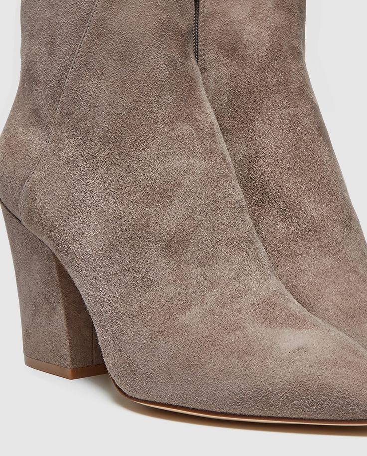 Botines de mujer Nine West de serraje en color gris - stivaletti in suede grigio - gray suede booties