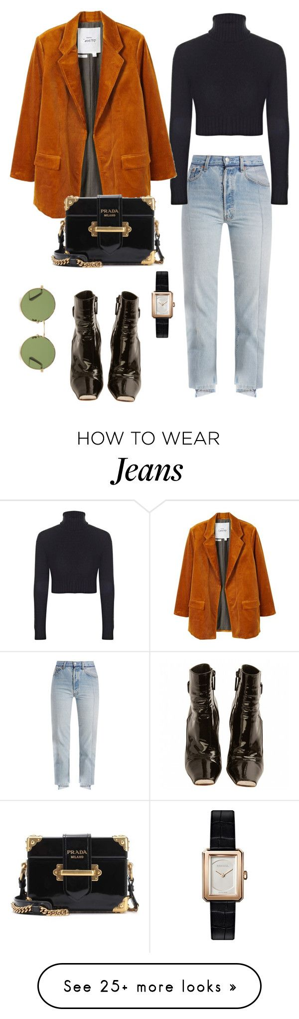 """Untitled #172"" by carolina11297 on Polyvore featuring Vetements, Boohoo, MANGO, Prada, Louis Vuitton, Chanel and Yves Saint Laurent"