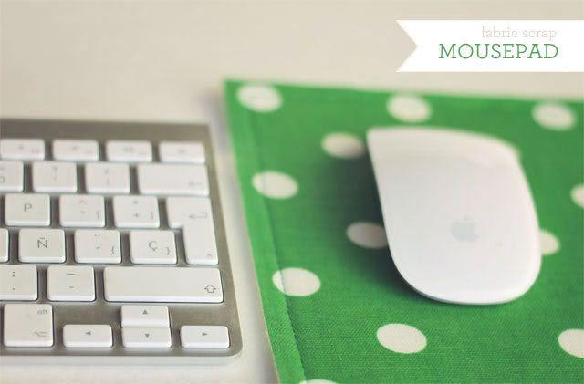 Fabric Scrap Mouse Pad