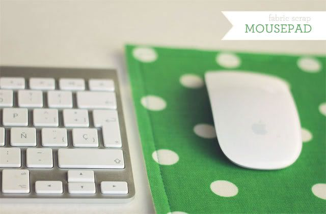 Super easy fabric scrap mousepad tutorial | How Joyful