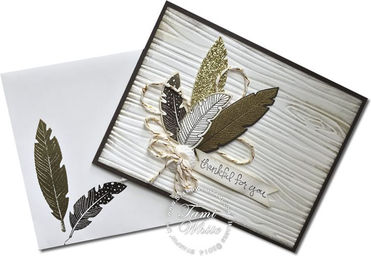 """Stampin Up Gorgeous Four Feathers """"Thankful for You"""" #stampinup #thanksgiving"""