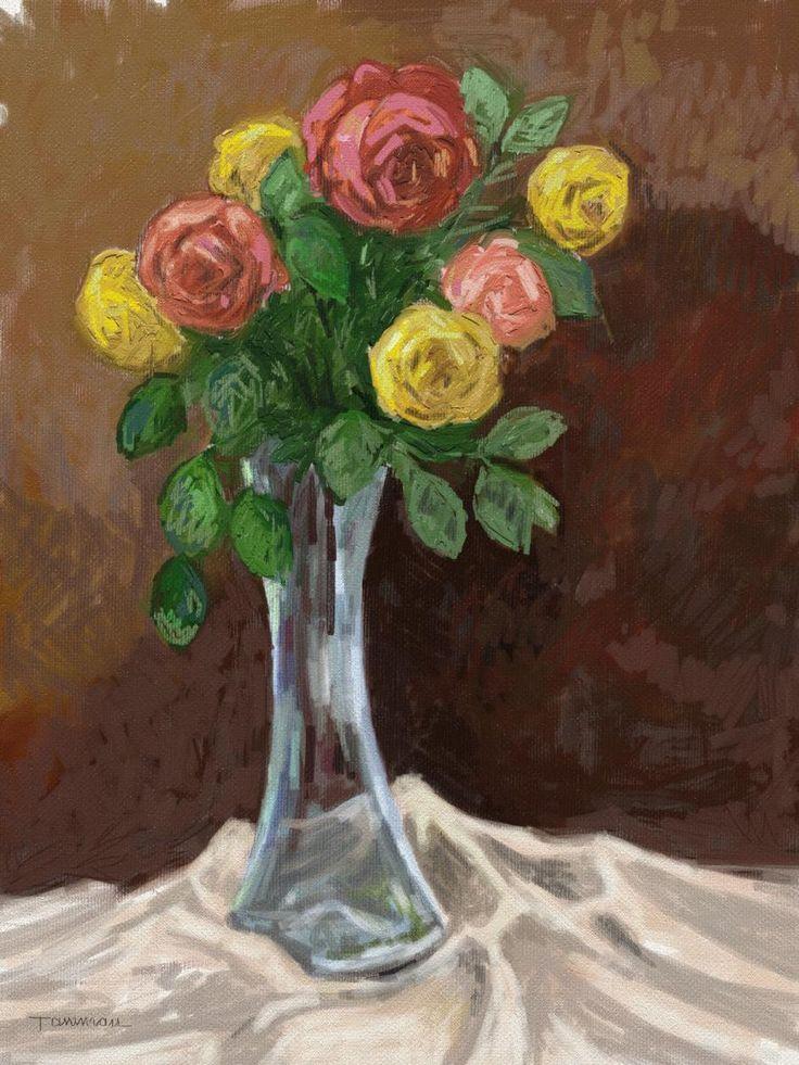 roses 1. Tablou de Emanuel Tancau