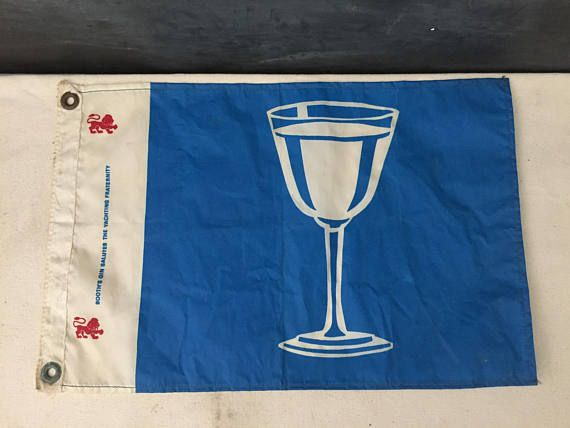 Boat Flag  Vintage Booth's Gin Salutes the Yachting