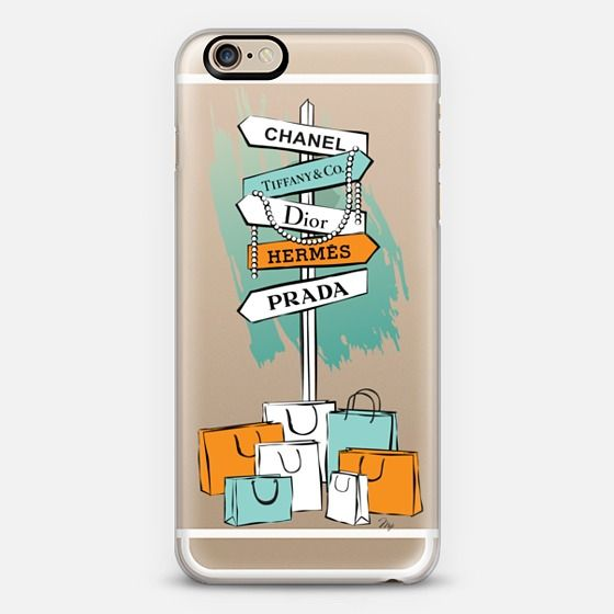 shopping fashion illustration mobile phone cover case