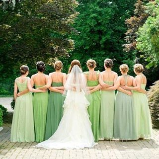 Tag your gals if you know they'd look gorgeous in green! #bridesmaids #happystpatricksday {Photo: @lhewittphoto; Hair & Makeup: @alisonharperco}