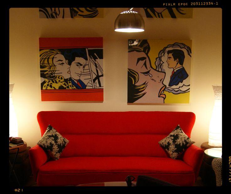 Te encantan los cuadros de Roy Lichtenstein y el pop art? En mayo te regalamos 1 por la compra de un sofá. #CuadroRegalo #CuadroPopArt