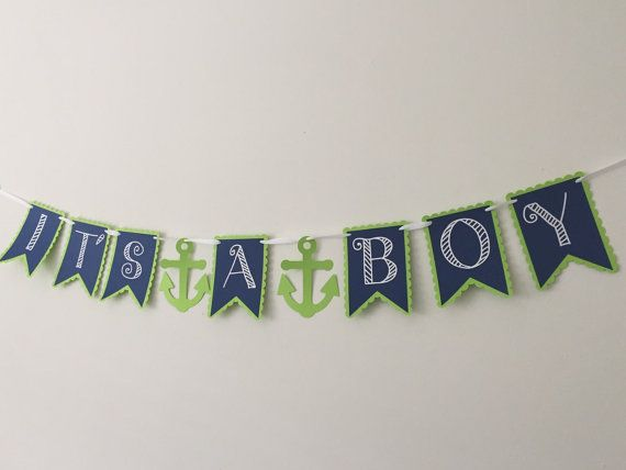 It's a Boy Nautical Baby Shower Banner  Nautical by HoneygoDesigns