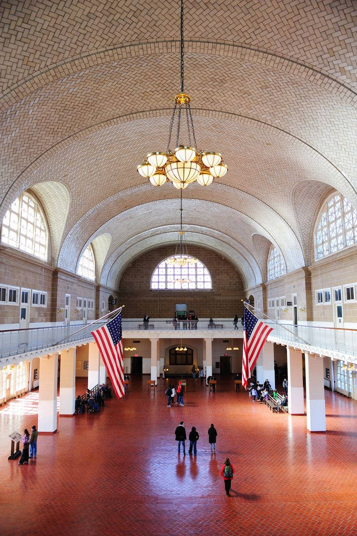 The Great Hall, Ellis Island, NYC. Every aspiring family historian should go here. It's an amazing experience.