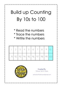 This has been designed for kids who are / have learnt to count to twenty and need to build up their counting to 100.These sheets are designed to build kids confidence step by step.  First they skip count by 10s to 20, then to 30, then to 40, then to 50, then to 60, then to 70, then to 80, then to 90 and then lastly to 100.I have also included a Certificate of Achievement which can be awarded to students on the successful completion of these worksheets.