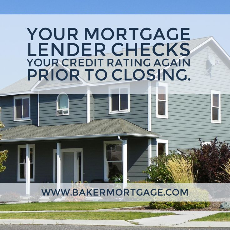 Your mortgage lender checks your credit rating again prior to closing – if there is a dip – your mortgage offer can be withdrawn or a higher rate can be required.