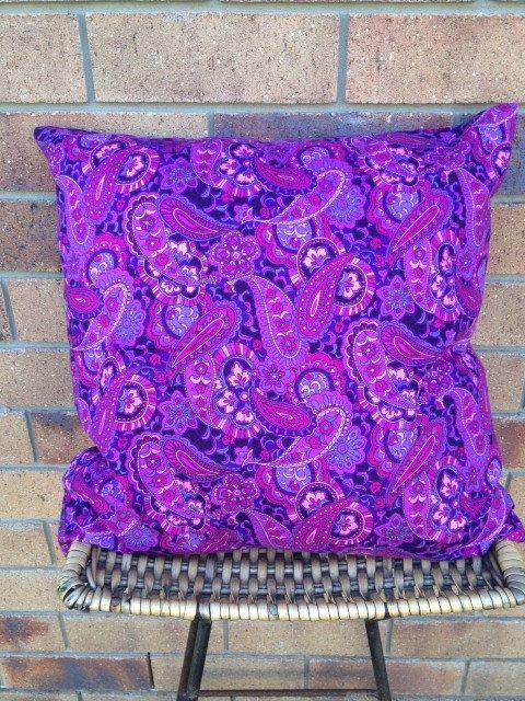 Deep Paisley. 50x50cm purple paisley print $AUD25