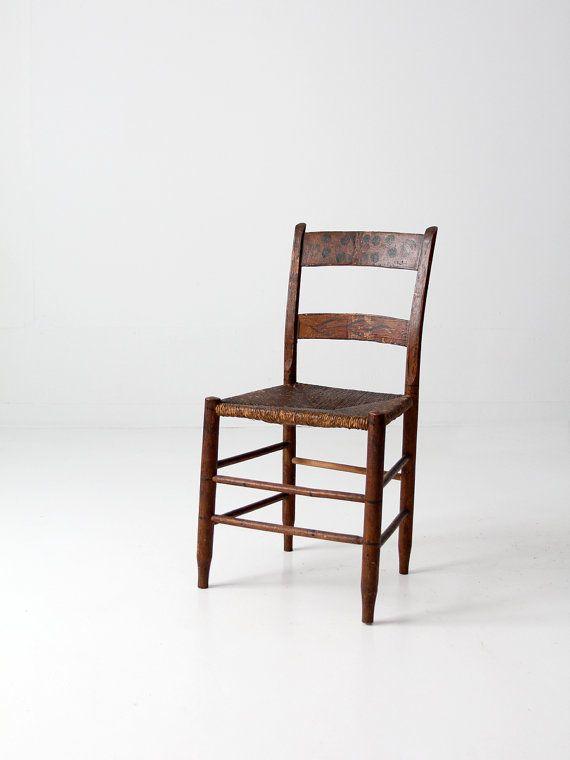 - Antique Rush Seat Chair, 1800s Decorative Chair Pinterest Woods