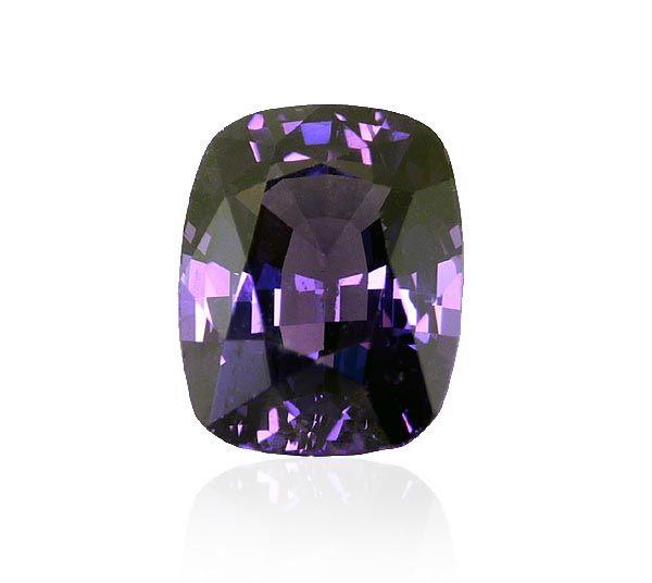 Spinell 5,6ct Kissenschliff natürlicher violettisch-dunkelblau #gems #edelstein