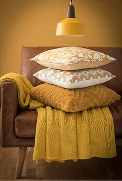 If I accessorise with yellow then i can use throws in both rooms. Portobello decor trend: decor and shopping ideas | Maisons du Monde