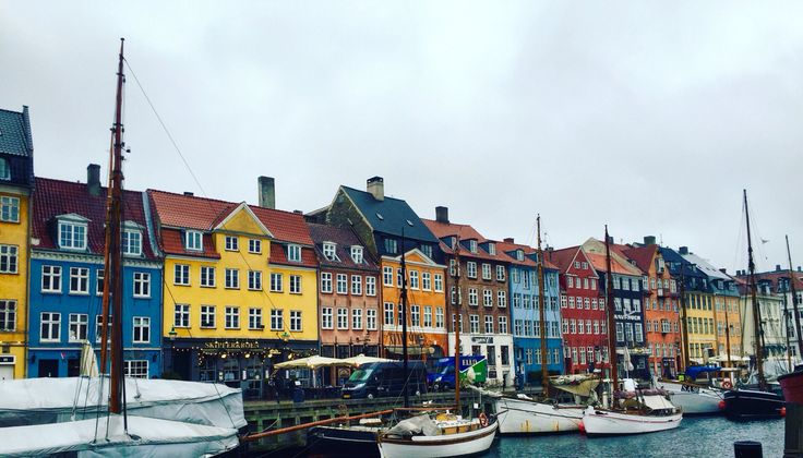 Nyhavn on a rainy day. Copenhagen
