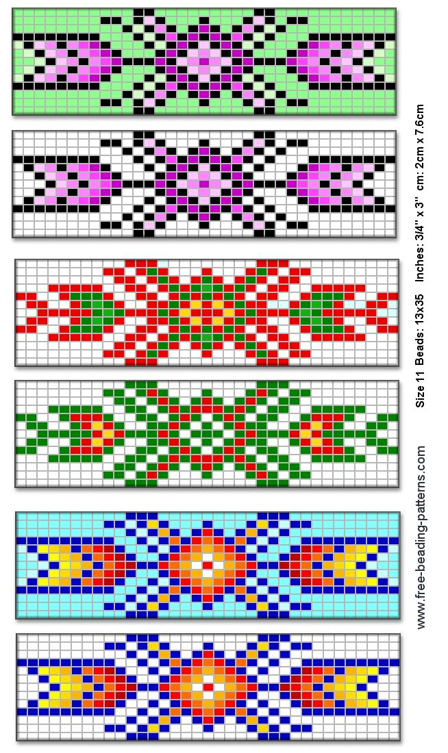 native american beading patterns | Solid-beaded bracelet with beaded fringe featuring Lattice Pattern, a ...