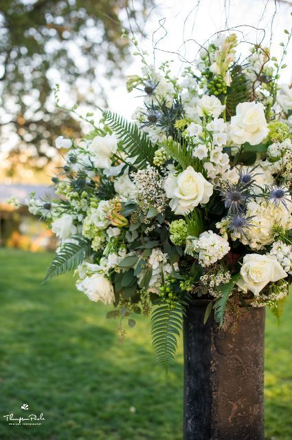 Outdoor Wedding Flowers Ceremony Decor