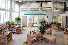 Montessori Classrooms - Around the World I like the shelf set up in the middle