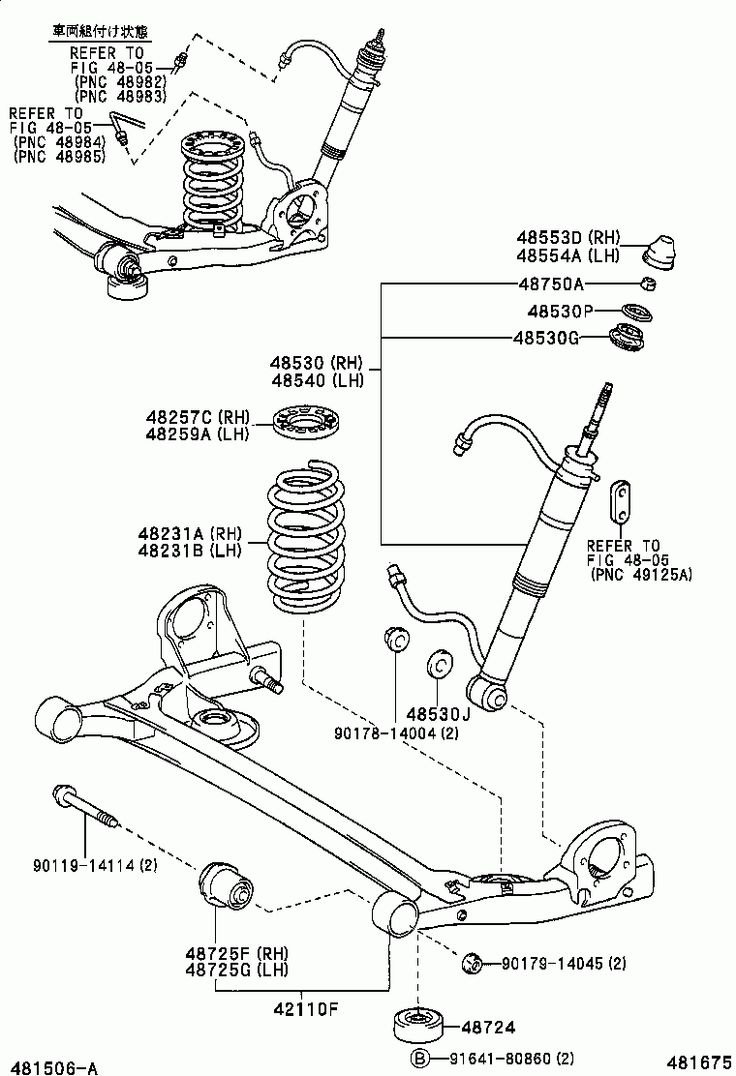 TOYOTA ESTIMA T/L [ACR30W-MRSSK] (JAPAN) 02.2000-01.2006: POWER TRAIN / CHASSIS GROUP: REAR SPRING & SHOCK ABSORBER (2)