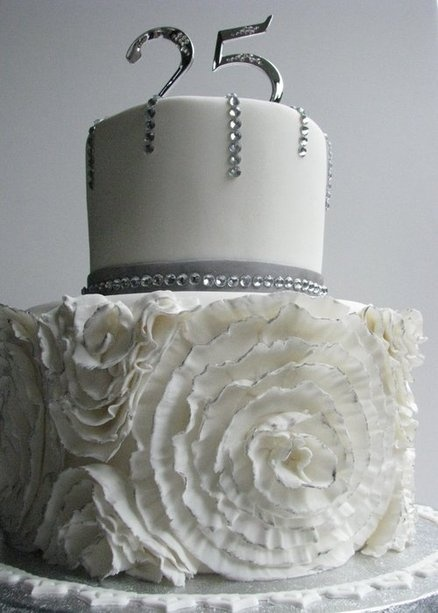 25th silver wedding anniversary  Cake by andrelly