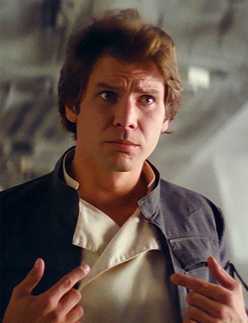 Harrison Ford as Han Solo in 'Star Wars'.  Preserve the memories of your era for posterity at http://www.saveeverystep.com #nostalgia #vintage #childhood