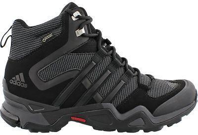 Adidas Outdoor Terrex Fast X High GTX Hiking Boot - Men's Black/Dark Grey/Power #outdoorshoes